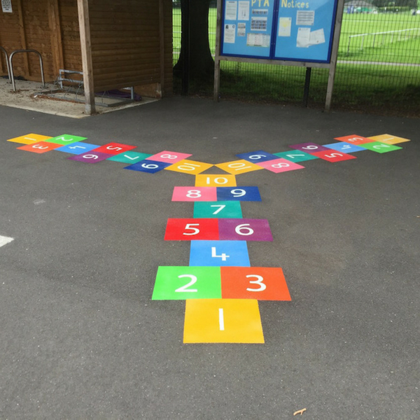 3 Way Hopscotch (using 300mm squares)