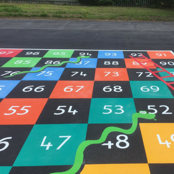 1-100 Snakes & Ladders Half Solid