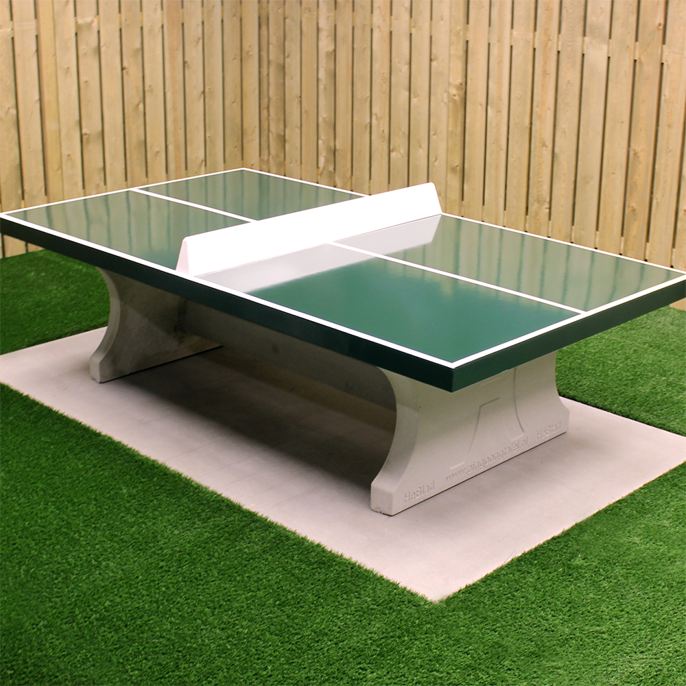 Concrete Ping Pong Table Green
