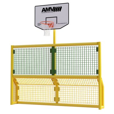 Junior 5 a side recess goal with basketball