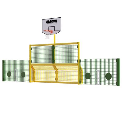 Junior 5 a side recess goal with basketball and 1m high side panels