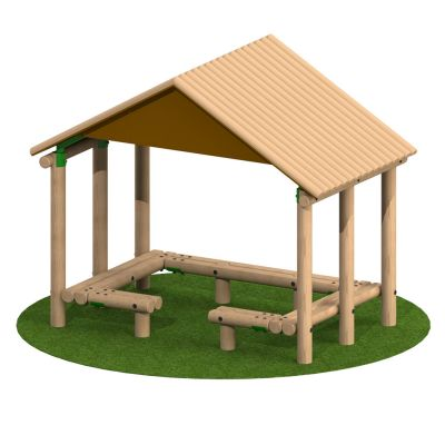3m x 1.9m Timber Shelter with Seating