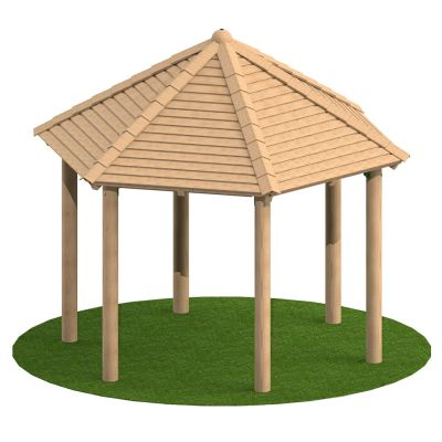 3m Hexagonal Timber Shelter