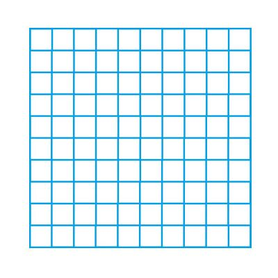 10 x 10 Blank Grid Single Colour