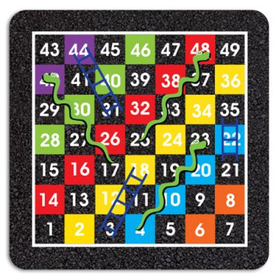 1-49 Snakes & Ladders Half Solid