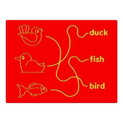 Bird, Duck & Fish Trace Play Panel