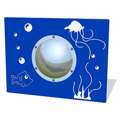 Underwater Scene Play Panel with Mirrored Dome