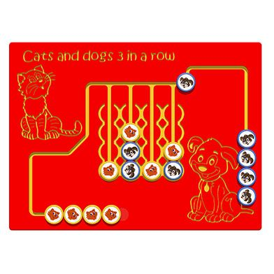 Cats and Dogs 3 in a Row Play Panel
