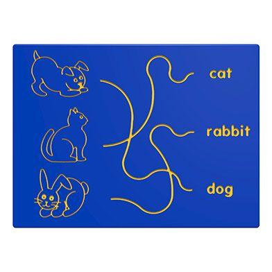 Dog, Cat & Rabbit Trace Play Panel