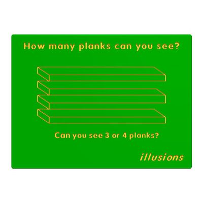 Illusions Planks Play Panel