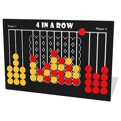 Giant 4 in a Row Game Play Panel