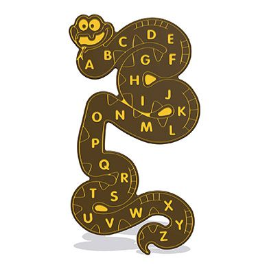 Alphabet Snake Wall Play Panel 15mm TC