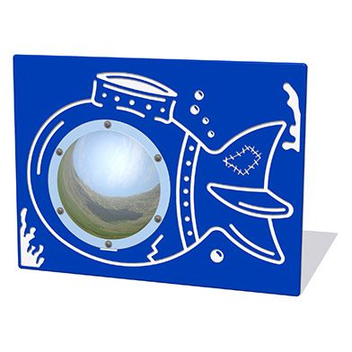 Underwater Sub Play Panel with Mirrored Dome