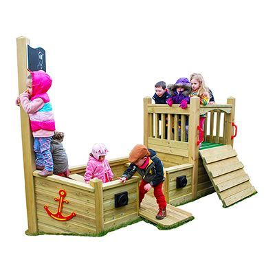 Mini Timber Pirate Ship With Deck