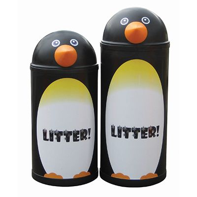 Large Penguin Litter Bin