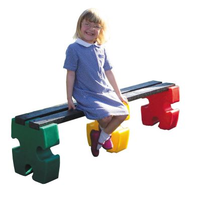 Four Person Jigsaw Bench