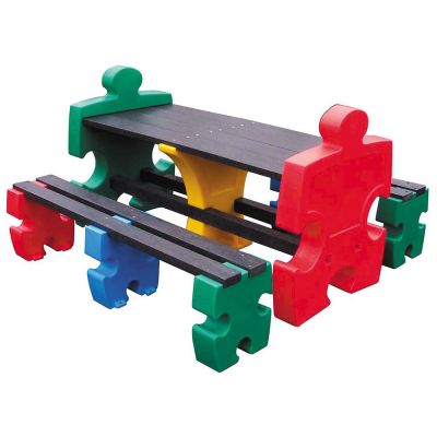 Jigsaw Table and 2 x Four Person Jigsaw Bench