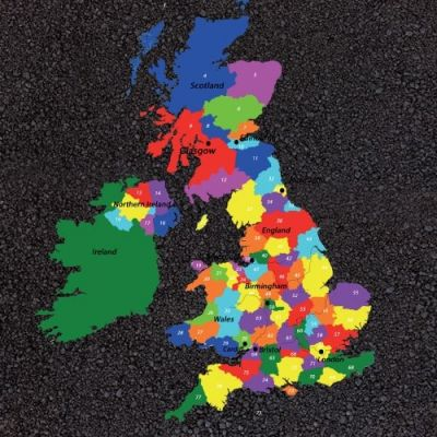 UK Map with Counties