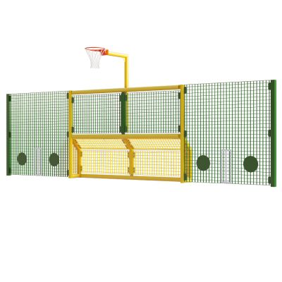 Junior 5 a side recess goal with netball and 2m high side panels