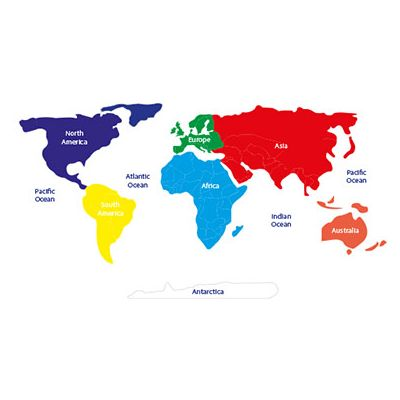 Large World Map with Continents