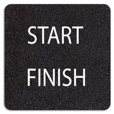 START FINISH 300mm Letters
