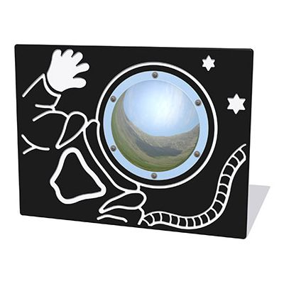 Spaceman Play Panel with Mirrored Dome
