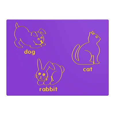 Dog, Cat & Rabbit Play Panel