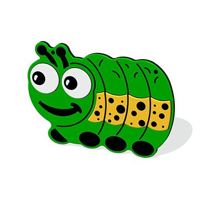 Mini Beast Caterpillar Plaque