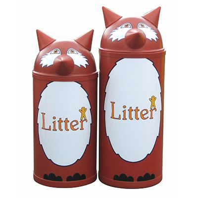 Large Fox Litter Bin